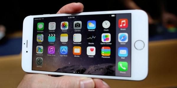 Apple iphone 6 plus horizontal view