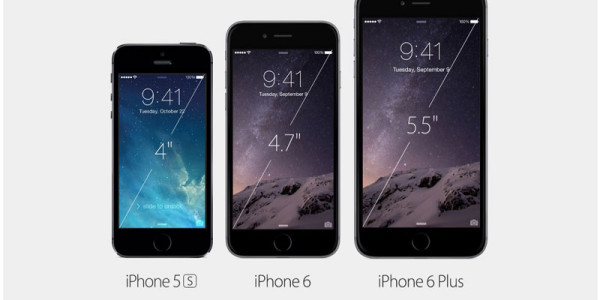 iphone 6 plus, iphone 6, iphone 5s size compare